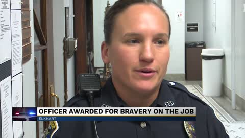 Elkhart Police officer receives two commendations